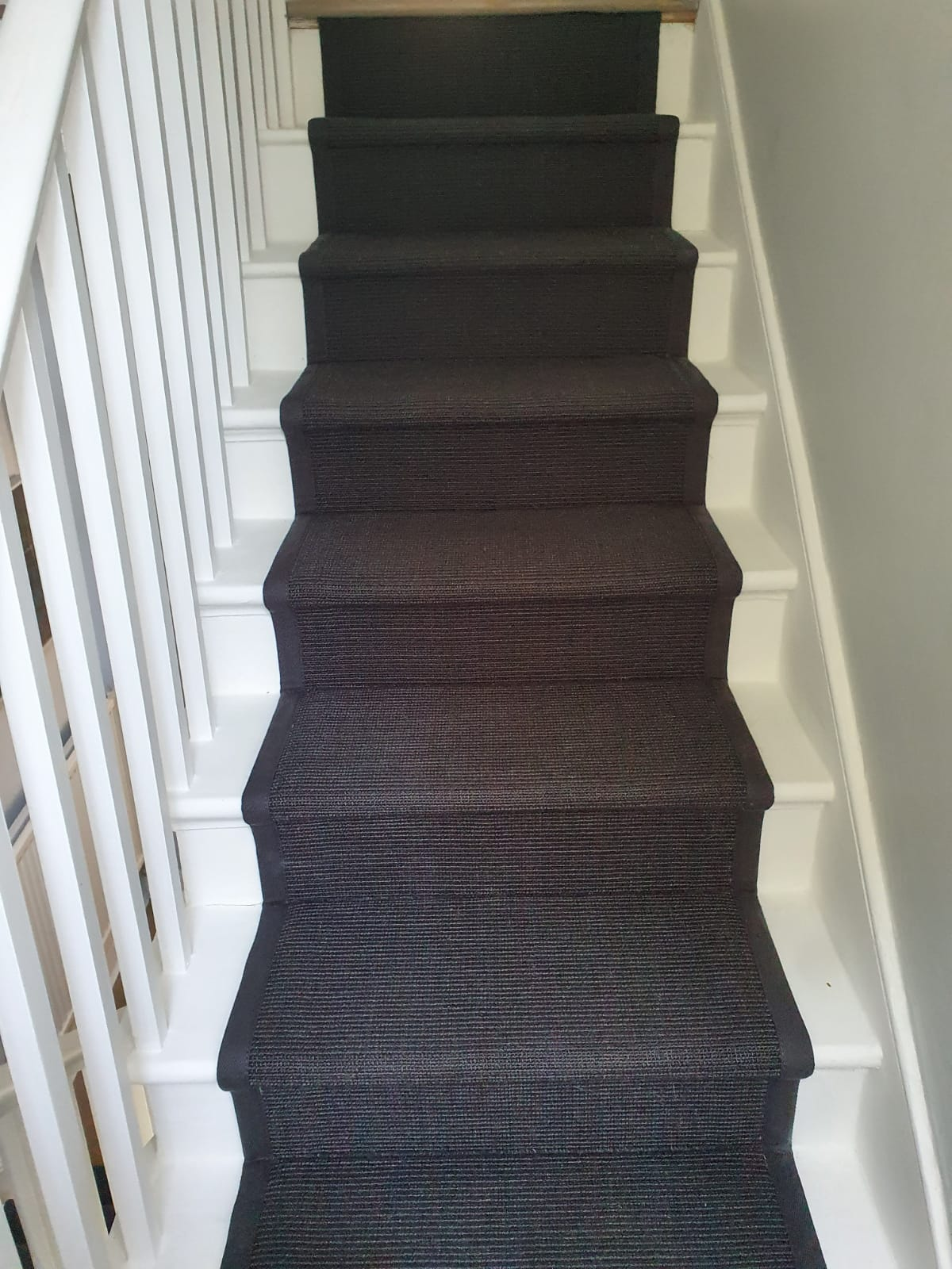 Crucial Trading Sisal Small Boucle Accents Black C714 Carpet in Fulham 3