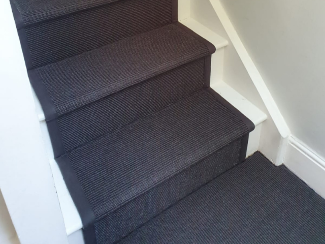 Crucial Trading Sisal Small Boucle Accents Black C714 Carpet in Fulham