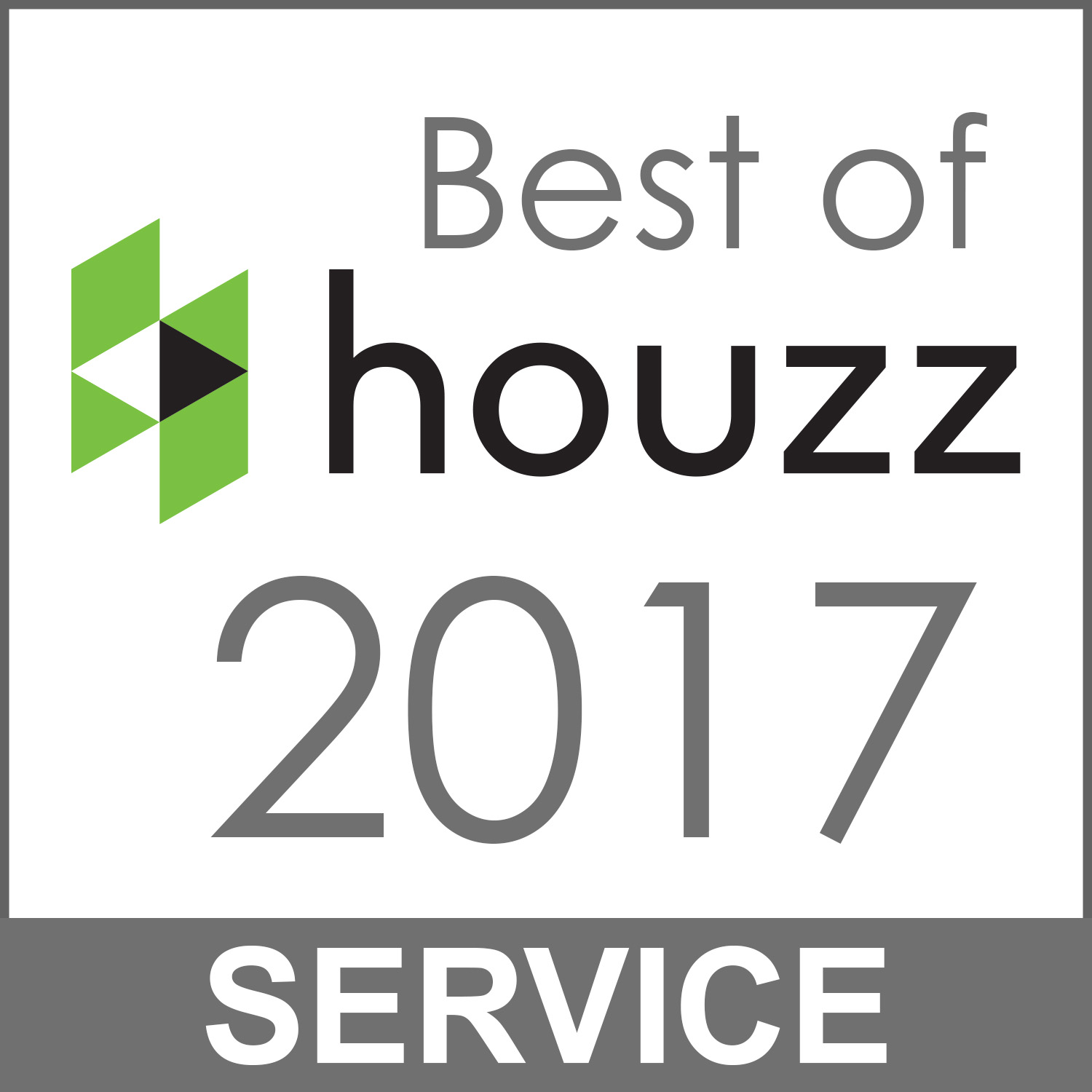 Best of houszz 2017 Service Badge
