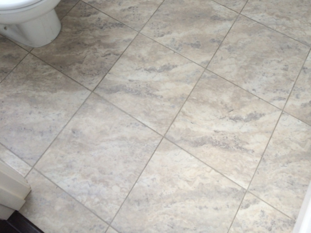 Amtico Spacia Bias Travertine Oyster Tile In Farringdon