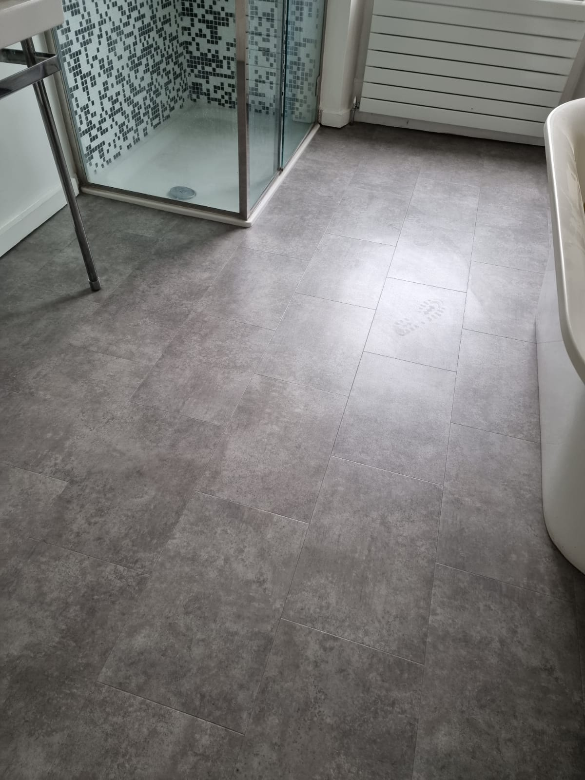 Amtico Spacia Century Concrete Luxury Vinyl Tile 1
