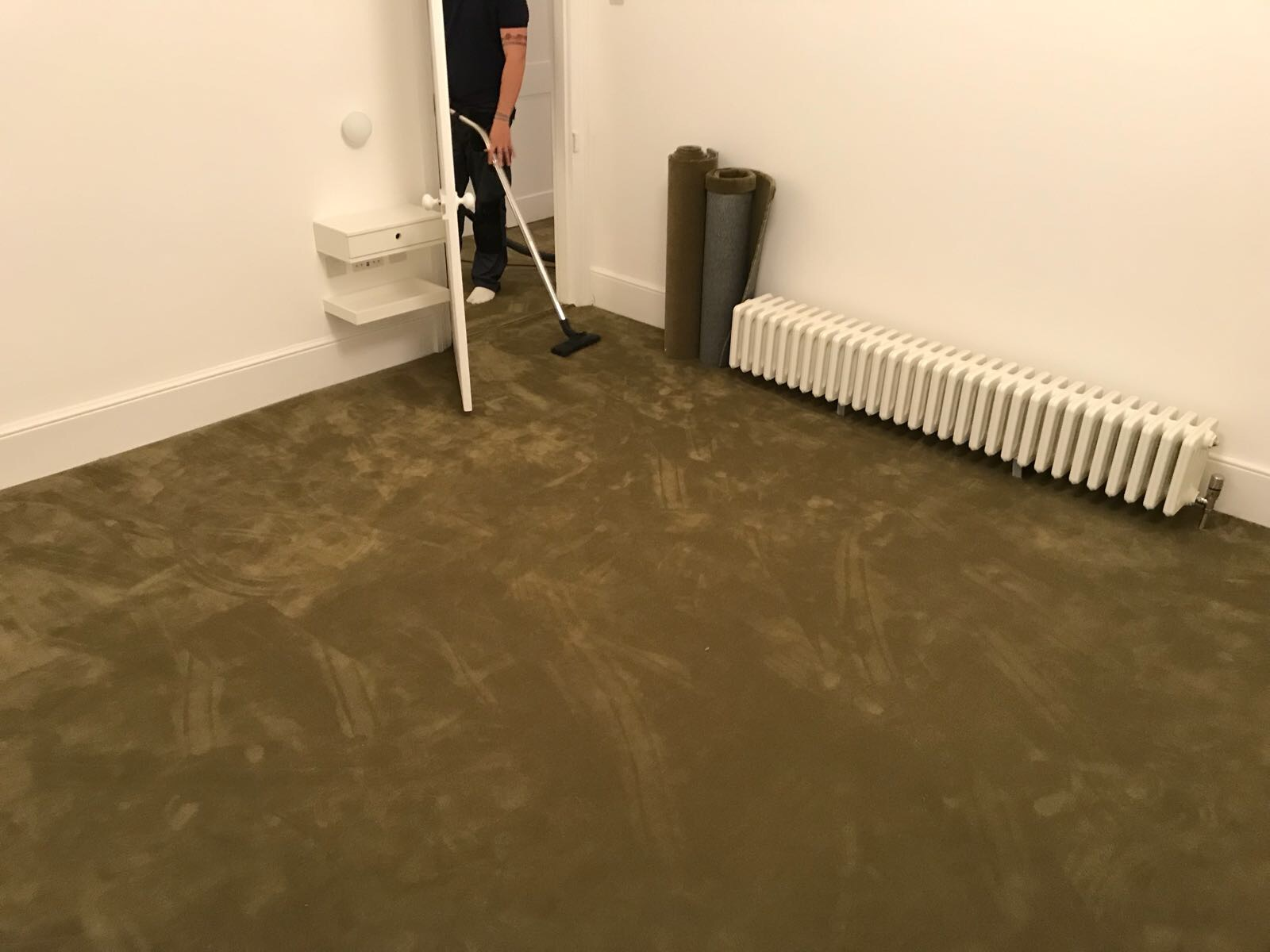 Rols Wool Carpets Castor Plus 322 Olive Green in Borough 2
