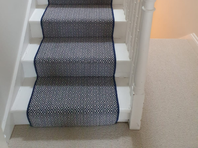 Rols Wool Carpets Gala Lattice Ocean Carpet In Chelsea