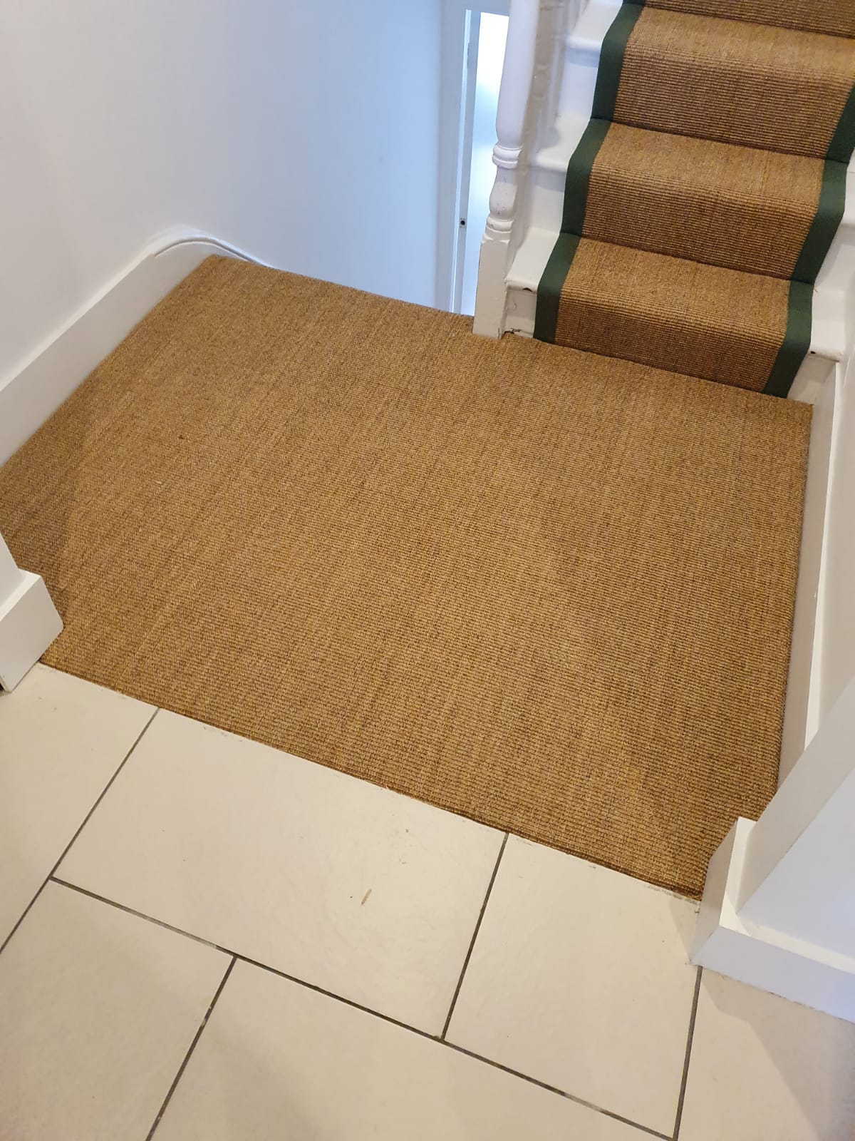Crucial Trading Small Boucle Classic Ginger C653 Sisal Carpet Installation 2