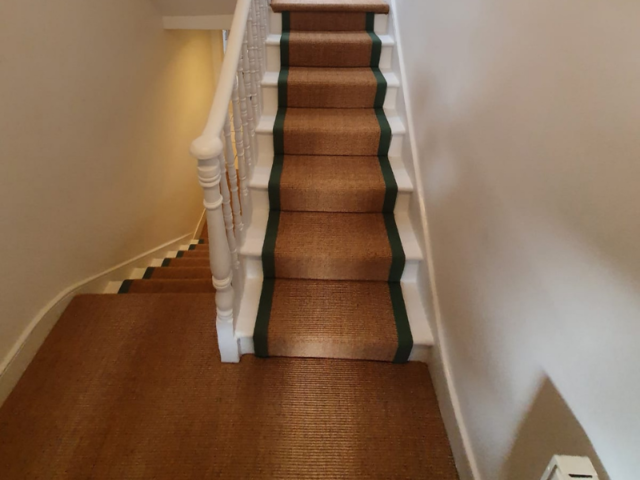 Crucial Trading Small Boucle Classic Ginger C653 Sisal Carpet Installation
