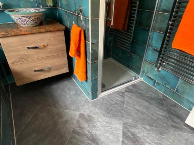 Amtico Signature Welsh Slate with Silver Stripping Installation In Notting Hill