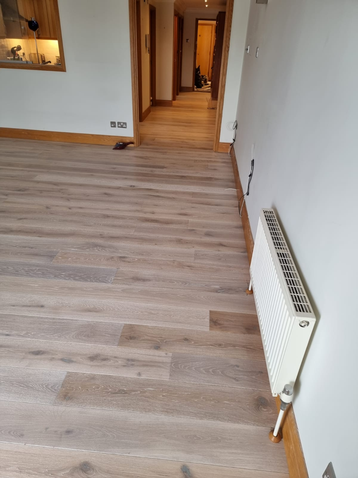 Staki White Brushed & Oil Wood Flooring In Richmond 2