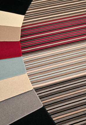Adam Carpets Castlemead Velvet Stripe and Co-ordinating twists