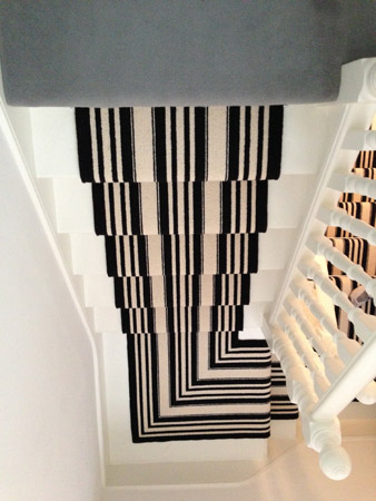 Black and White Stripe Stair Carpet 5