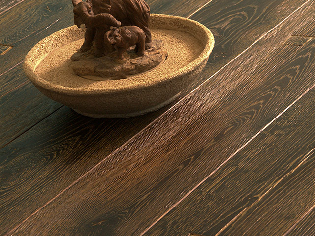 Brooks Bros Wood Flooring - E4002 Dark Grain 3D