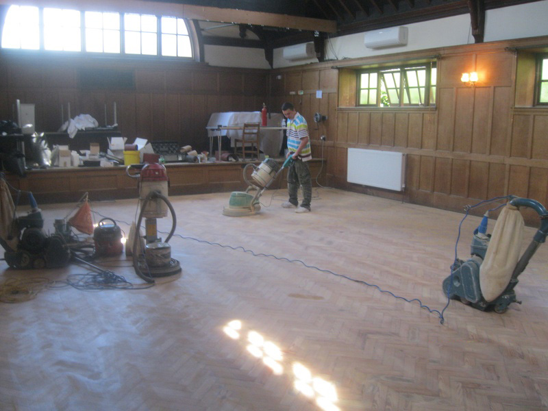 Central Hall - Sanding and Sealing