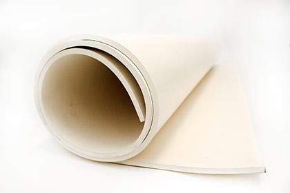 Coba Flooring - Rubber Sheeting - Food Quality White Rubber Sheet sample