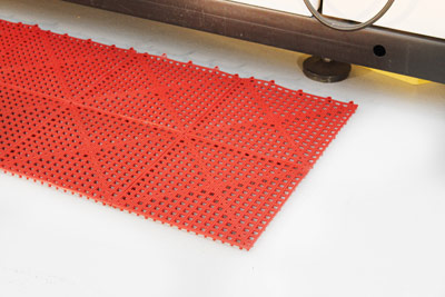 Workplace Matting - Flexi Deck - Red