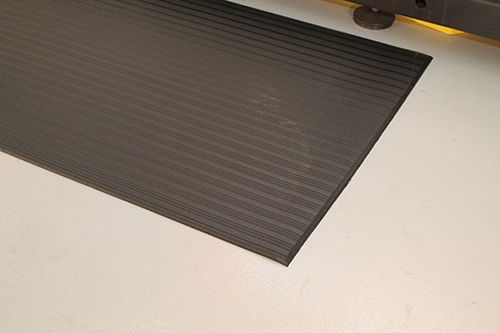 Workplace Matting - Orthomat Ribbed - Black
