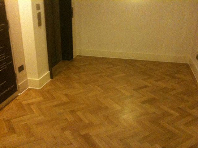 Damaged Parquet Floor Partially Replaced