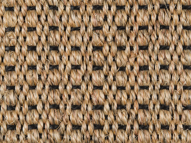 Fibre Flooring - Sisal Amazon Black Weft
