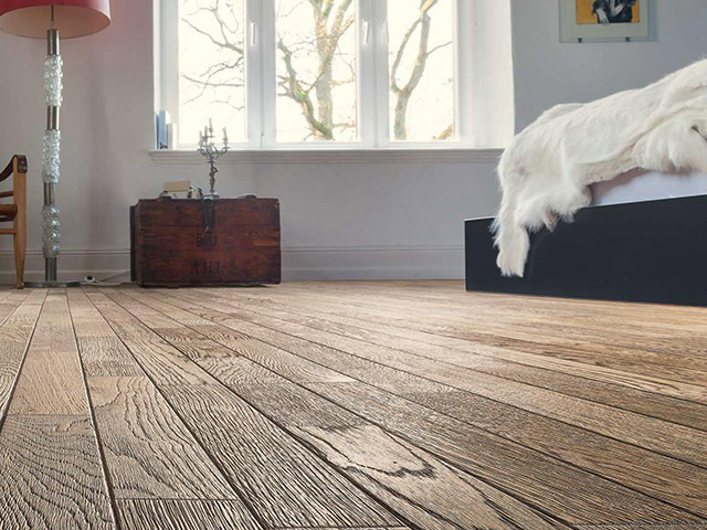 Haro Parquet Oak Tobacco Grey Retro Brushed 3d The Flooring Group