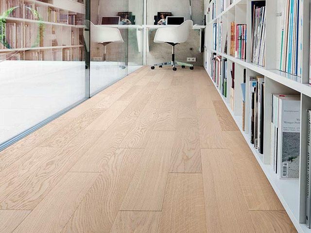 Haro Parquet Oak White Brushed The Flooring Group