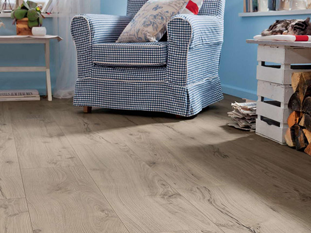 Haro laminate floor alpine oak grey the flooring group for Laminate flooring waterloo