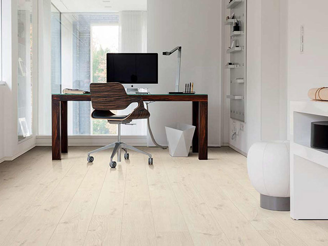 Haro laminate floor oak portland white the flooring for Laminate flooring portland