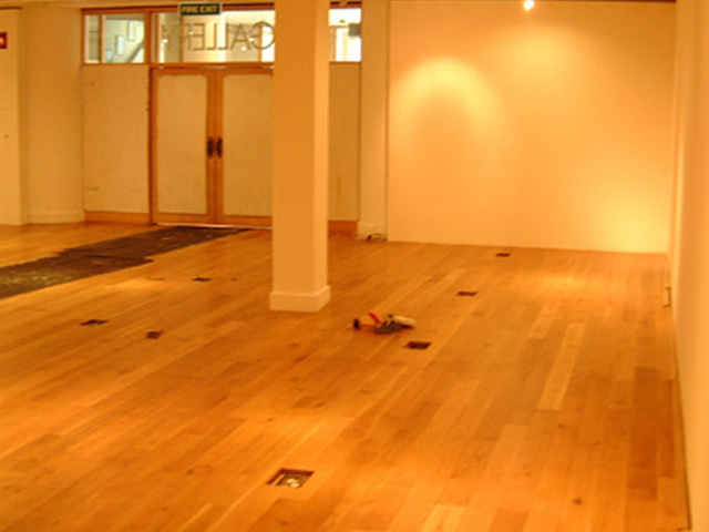 Junckers Solid Wide Board Oak Oiled Finish To Gallery