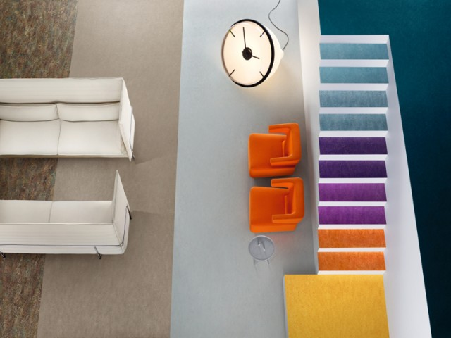 Marmoleum – Marbled with Stairs
