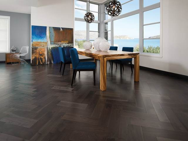 Mirage – 14025 Herringbone – Knotty Walnut Charcoal