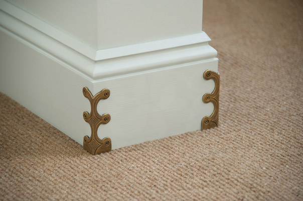 Skiffers in Antique Brass detail by Stairrods UK
