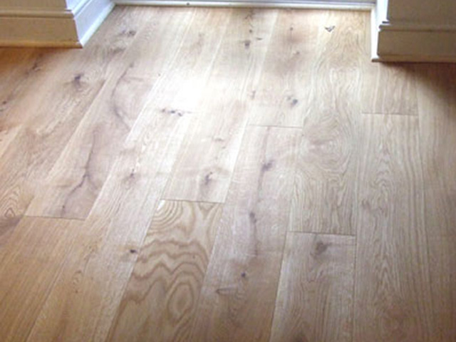 Solid Concrete Floor Planks : Solid oak planks laid on a concrete floor the flooring group