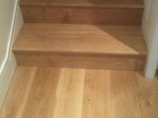 Solid Oak Planks Laid On An Unstable Living Room Floor