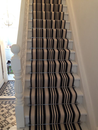 Stairs Black and White Stripe 1