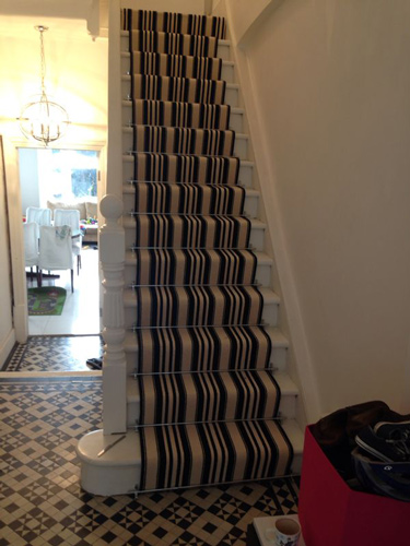 Stairs Black and White Stripe 2
