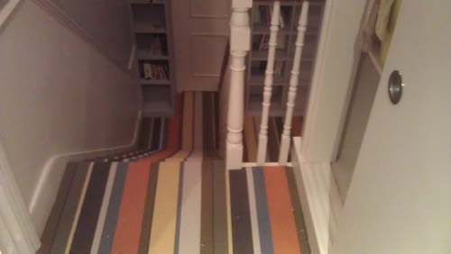 Striped Carpets On Stairs 01
