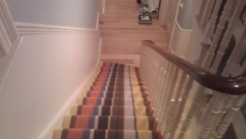 Striped Carpets On Stairs 02