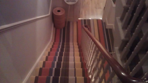 Striped Carpets On Stairs 03