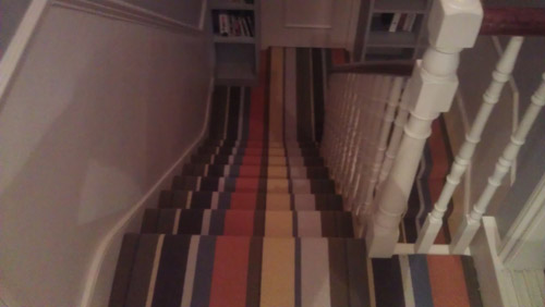 Striped Carpets On Stairs 06