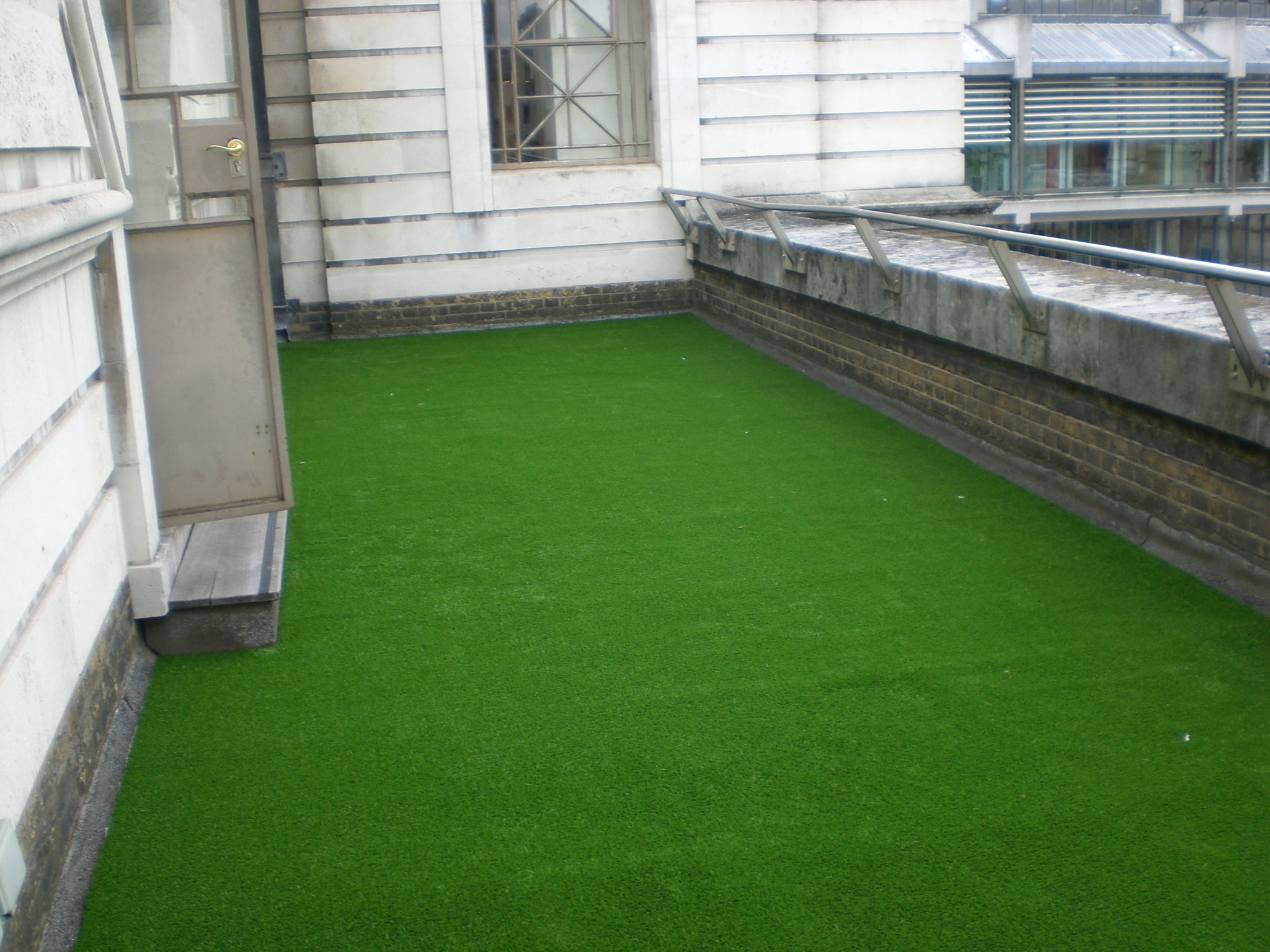 Green Synthetic Grass Installation
