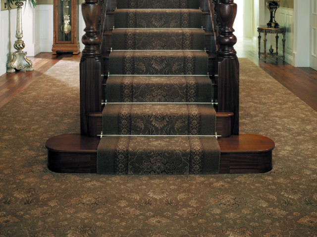 Ulster Carpets – Country House Collection – Kazan Tench Green & Kazan Runner Tench Green