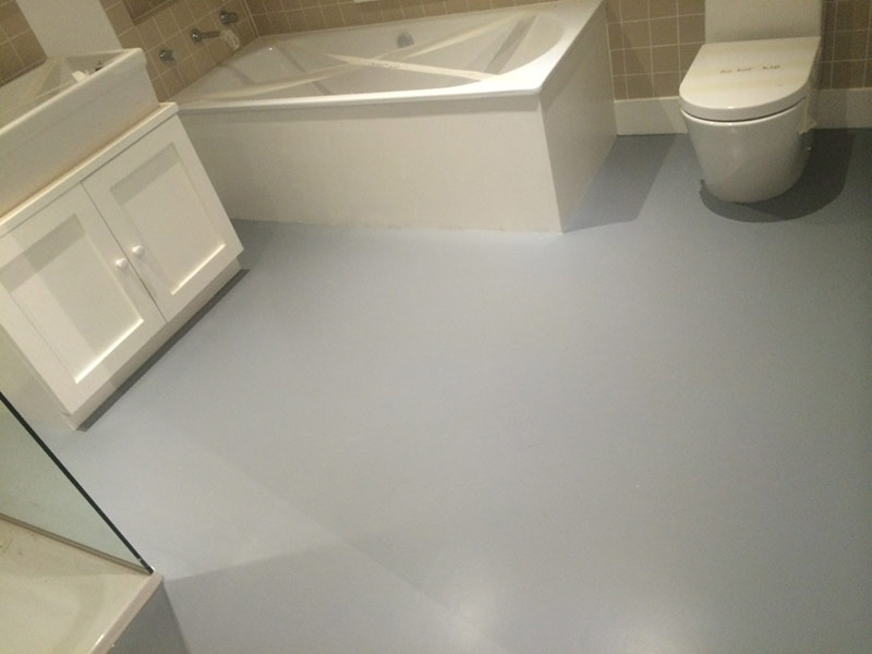 bathroom kitchen grey rubber flooring