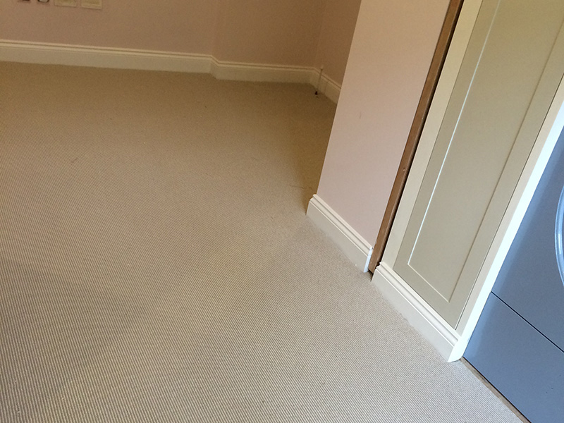 Bedroom in carpet