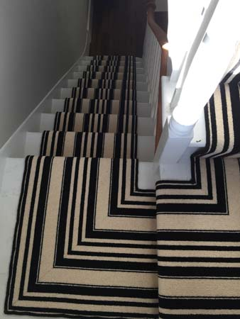 black and white striped stair carpet 5