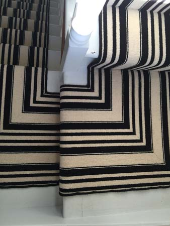 black and white striped stair carpet 6
