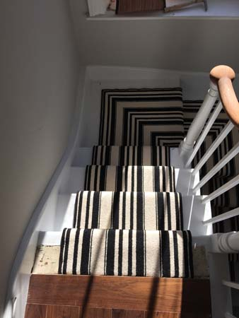 black and white striped stair carpet 7