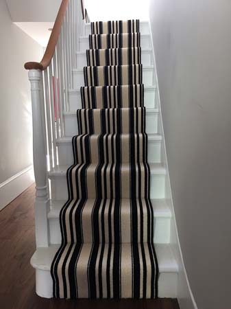 black and white striped stair carpet 8