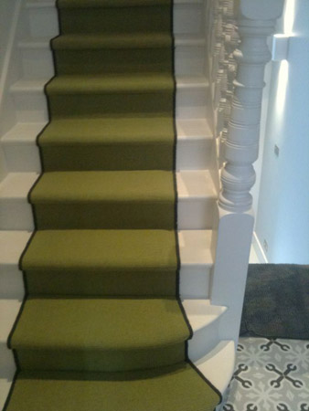 green carpet stairs 01