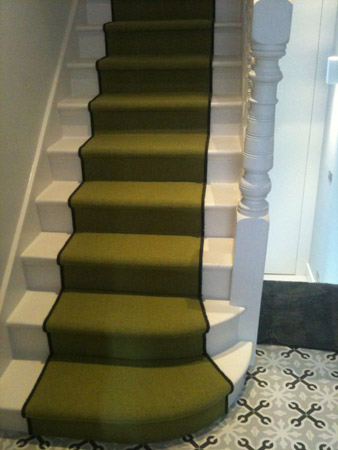 Green Carpet On Stairs The Flooring Group