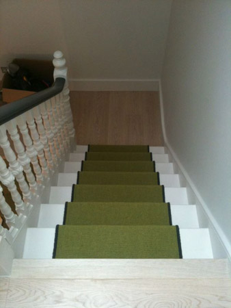 green carpet stairs 04