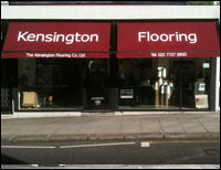 Kensington flooring sign