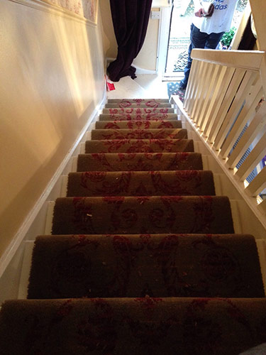 patterned stair carpet 2