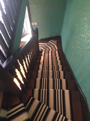 portfolio carpet black and white striped stair carpet 2